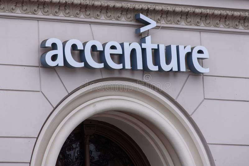 Accenture logo editorial stock image  Image of global - 89041864