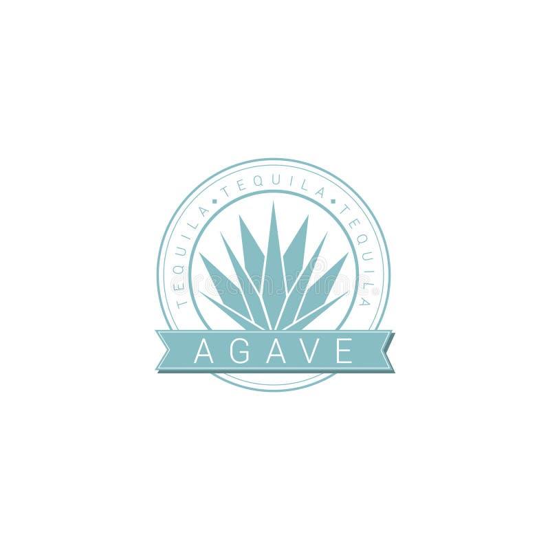 Logo agawy Tequila ilustracja wektor