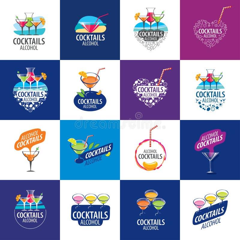 Logo alcoolique de cocktails illustration stock