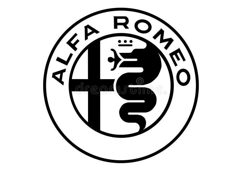 Logo Alfa Romeo Black et blanc illustration libre de droits
