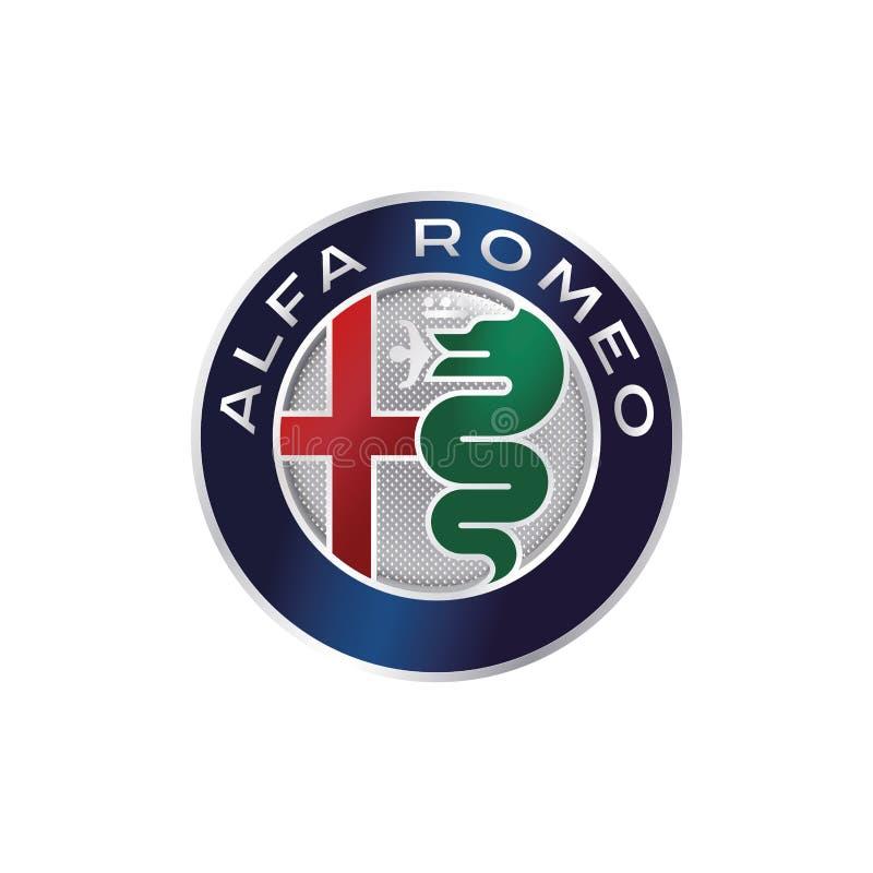 Logo Alfa Romeo Black And White Editorial Stock Photo