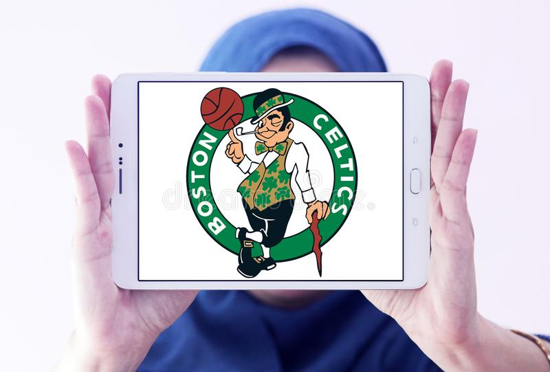 Logo américain d'équipe de basket de Celtics de Boston images libres de droits