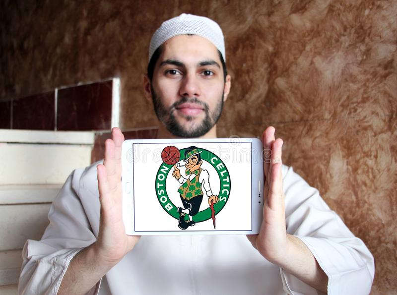 Logo américain d'équipe de basket de Celtics de Boston photos stock