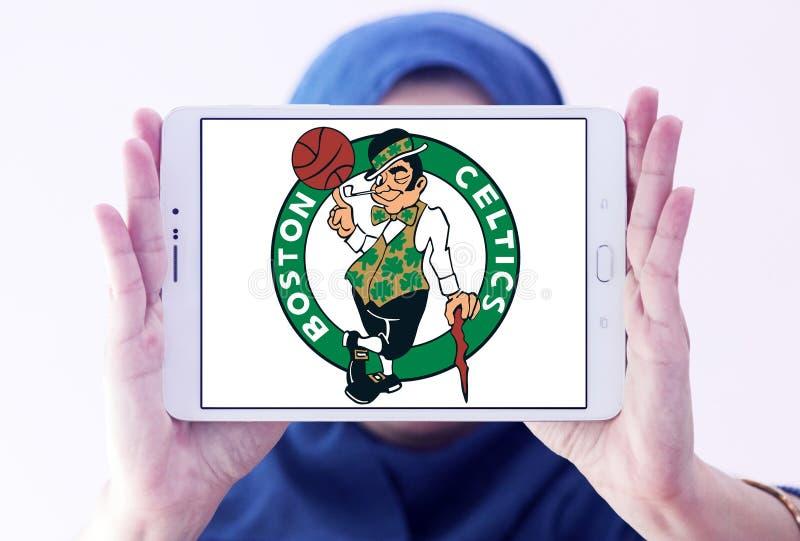 Logo americano della squadra di pallacanestro di Boston Celtics immagini stock libere da diritti