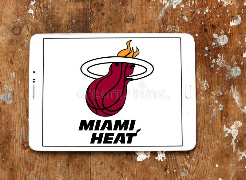 Logo americano della squadra di pallacanestro del Miami Heat immagini stock libere da diritti
