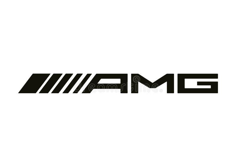 Logo AMG Mercedes. Car color vector format aviable ai