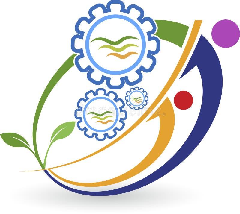 Logo amical d'usine d'Eco illustration libre de droits