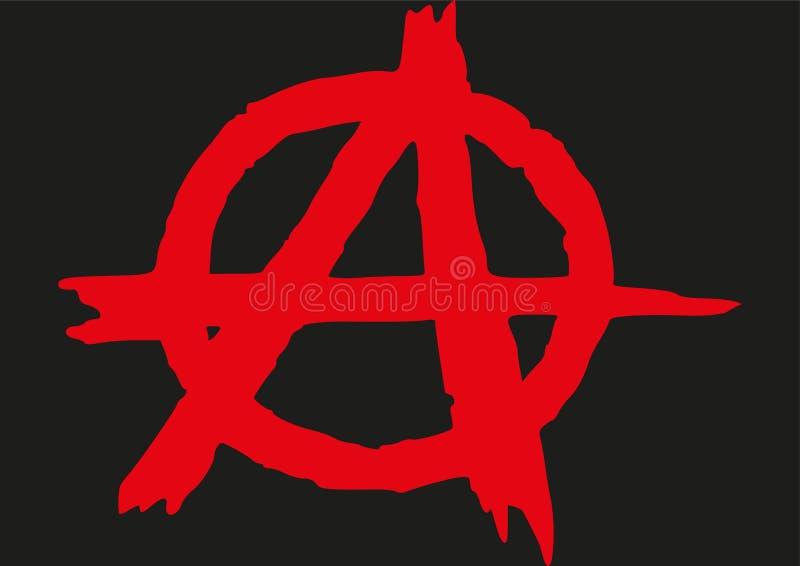 Logo Anarchy lizenzfreie abbildung