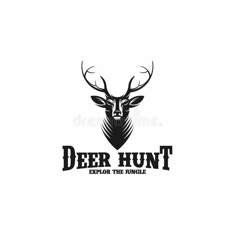 Logo animal sauvage de chasse à cerfs communs - vecteur illustration stock