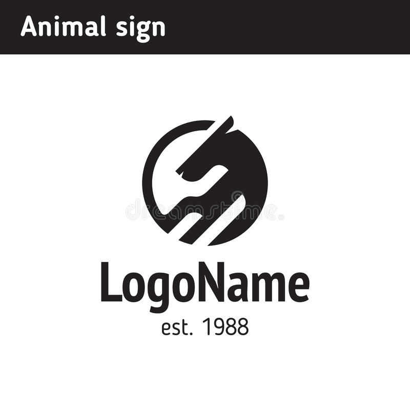Logo animale astratto royalty illustrazione gratis