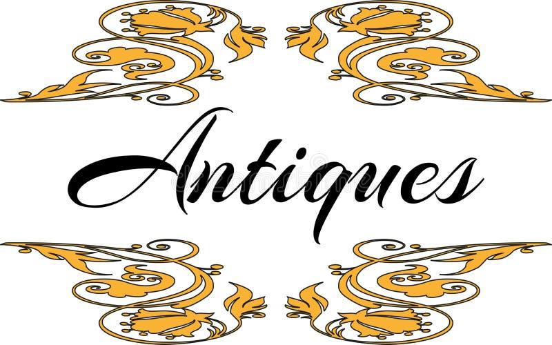 Logo Antiques - Vektor stock abbildung