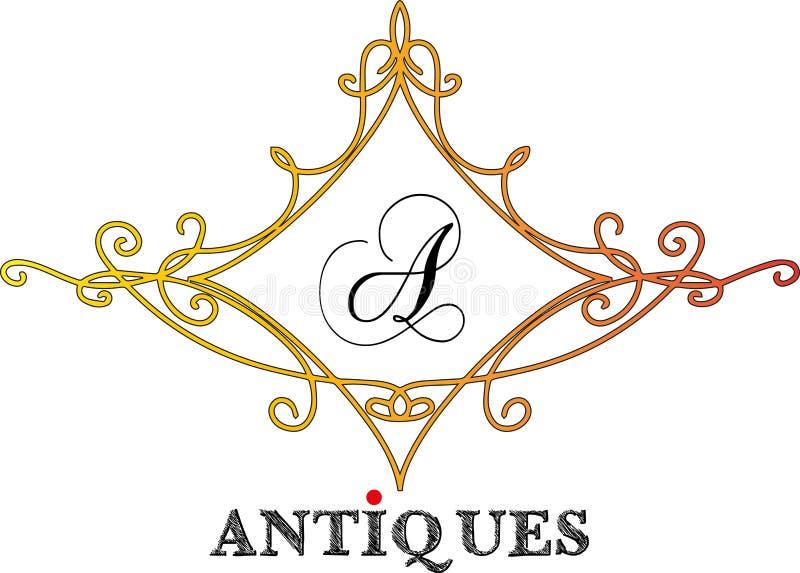Logo - antyki 06 ilustracja wektor