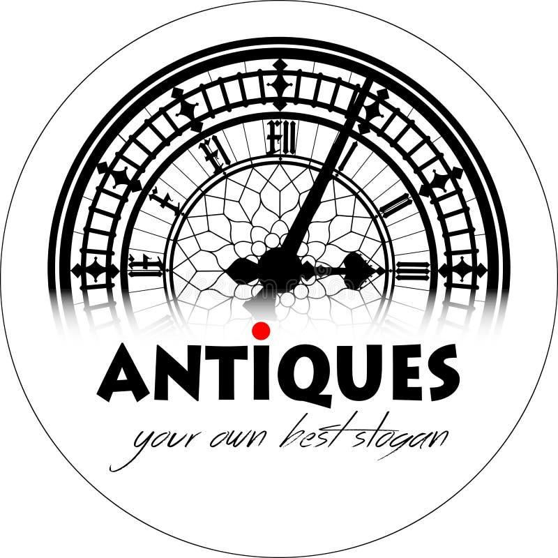 Logo - antyki 08 royalty ilustracja