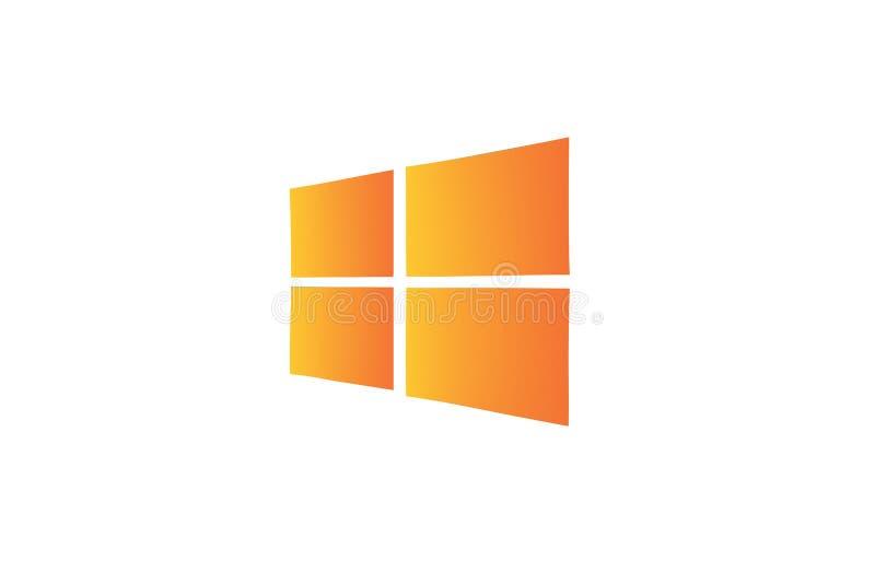 Logo arancio di Windows royalty illustrazione gratis