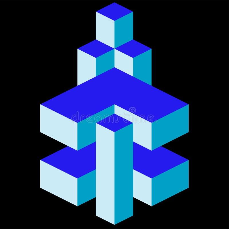 Logo architettonico dell'oggetto isometrico royalty illustrazione gratis