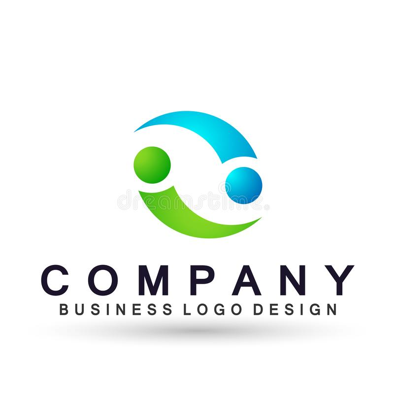 Logo, Arrows shaped two direction focused on Corporate Invest Business Logo design. Financial Investment Logotype concept icon. Arrows shaped two directions stock illustration