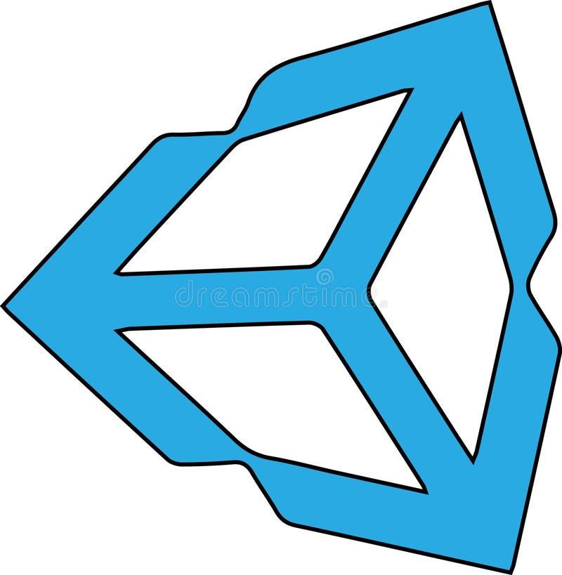 Logo astratto blu su bianco royalty illustrazione gratis