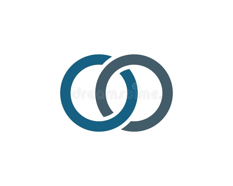 Logo astratto corporativo di vettore di unit? di affari royalty illustrazione gratis
