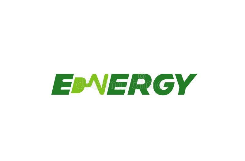 Logo astratto creativo del testo di tipografia di energia illustrazione vettoriale