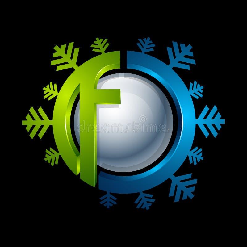 Logo astratto del cerchio del turchese e del blu Nuova tecnologia medica illustrazione vettoriale