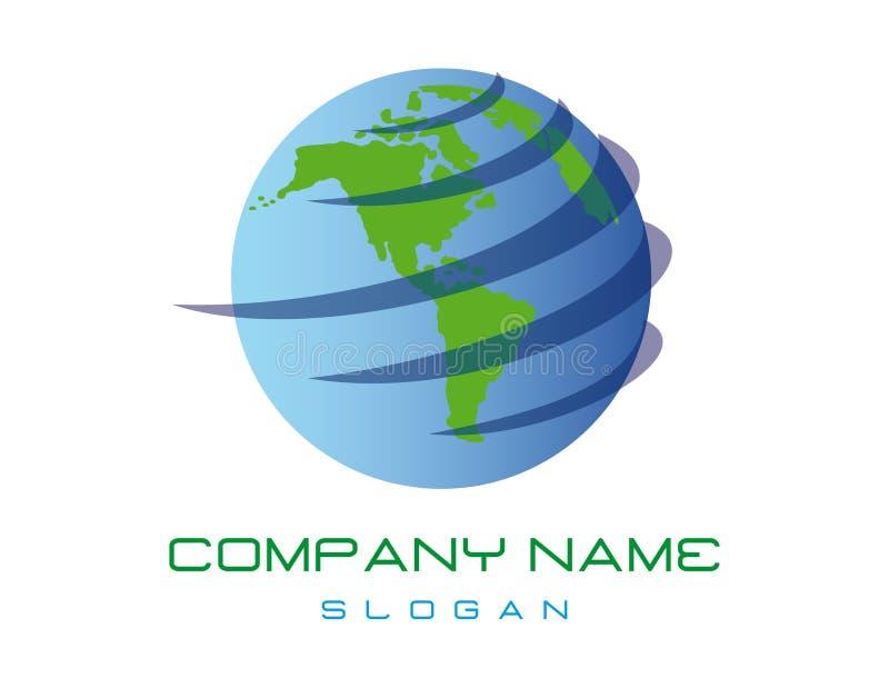 Logo astratto del globo su fondo bianco illustrazione vettoriale