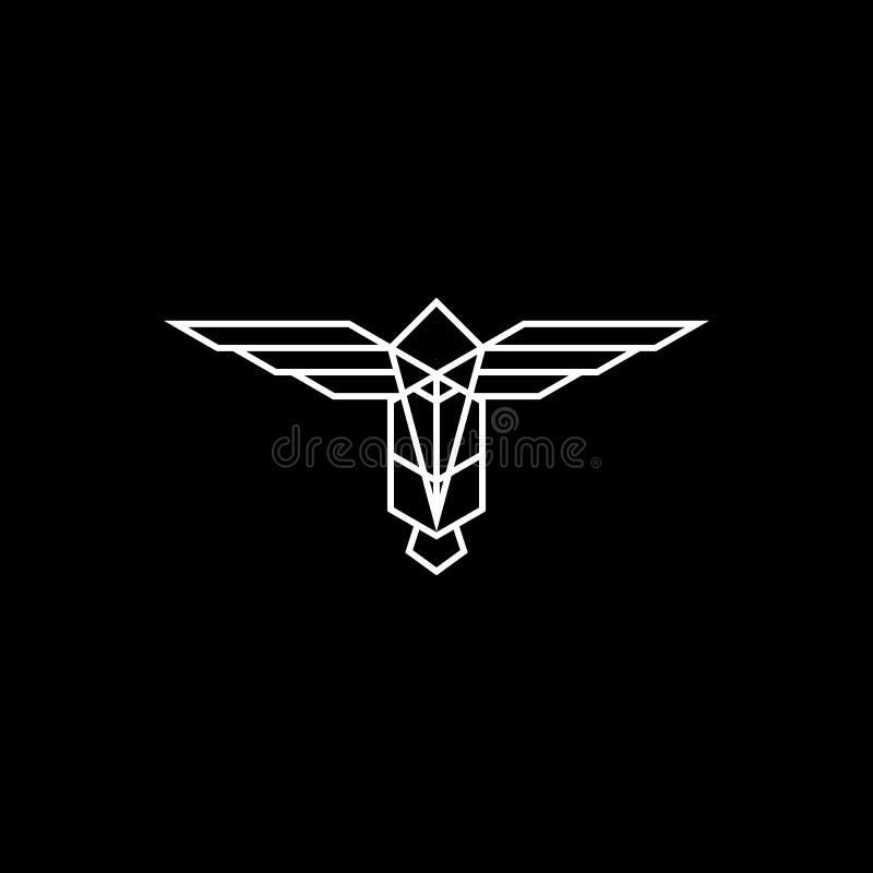 Logo astratto del totem royalty illustrazione gratis