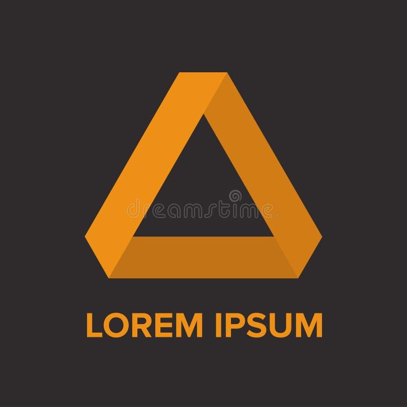 Logo astratto del triangolo di giallo di pendenza fotografia stock libera da diritti