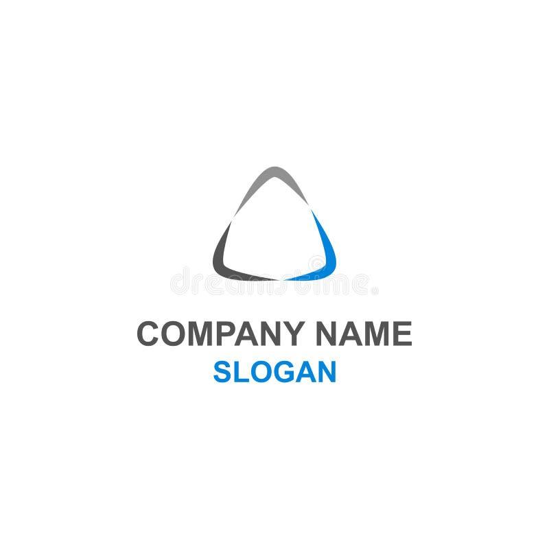 Logo astratto del triangolo illustrazione vettoriale