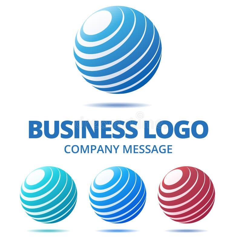 Logo astratto di affari del globo royalty illustrazione gratis