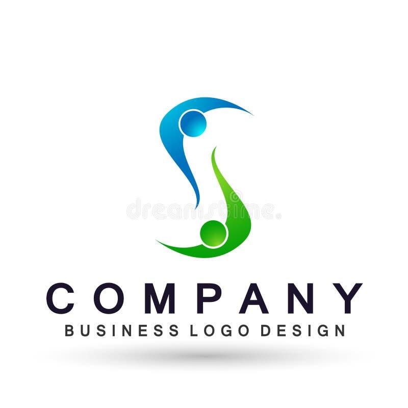 Logo astratto di celebrazione del sindacato della gente sul riuscito logo investito corporativo di affari Icona di concetto di lo royalty illustrazione gratis