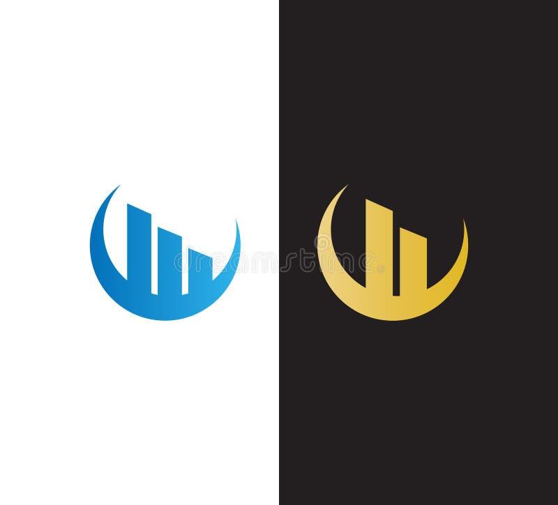 Logo astratto di Real Estate di vettore Costruzione, piana, progettazione di logo della costruzione per la vostra società illustrazione vettoriale