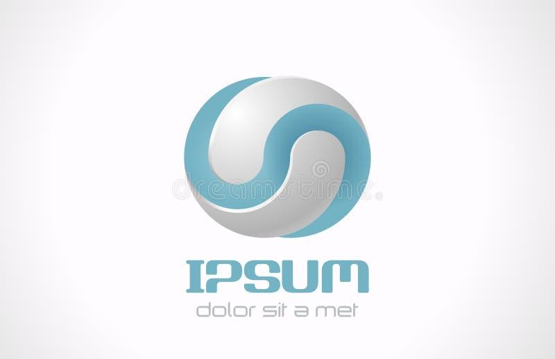 Logo astratto infinito per i cosmetici, erba medica di vettore illustrazione di stock
