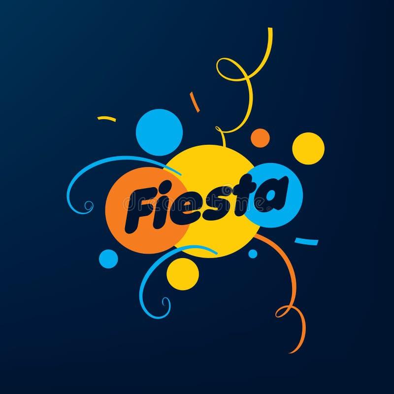 Logo astratto per la festa Illustrazione di vettore royalty illustrazione gratis
