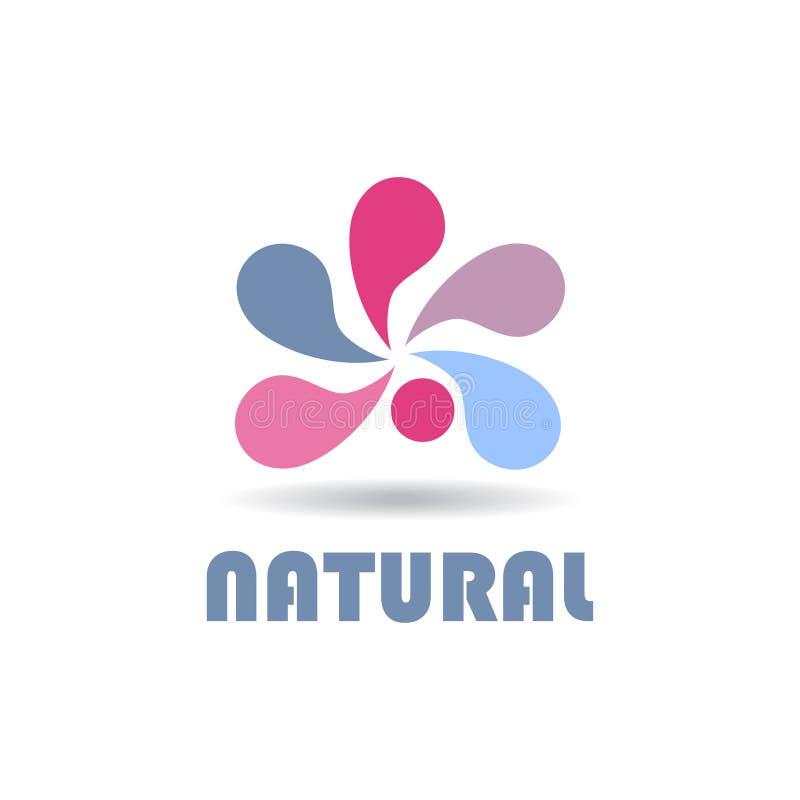 Logo astratto per la società di affari naughty Vettore di colore illustrazione vettoriale
