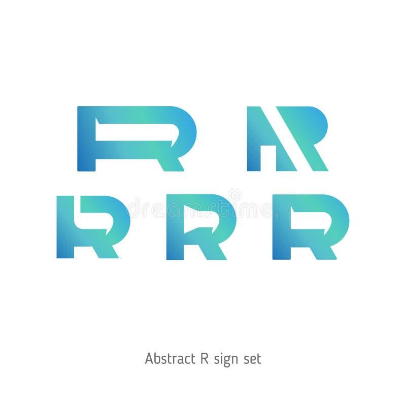 Logo astratto sotto forma di lettere royalty illustrazione gratis