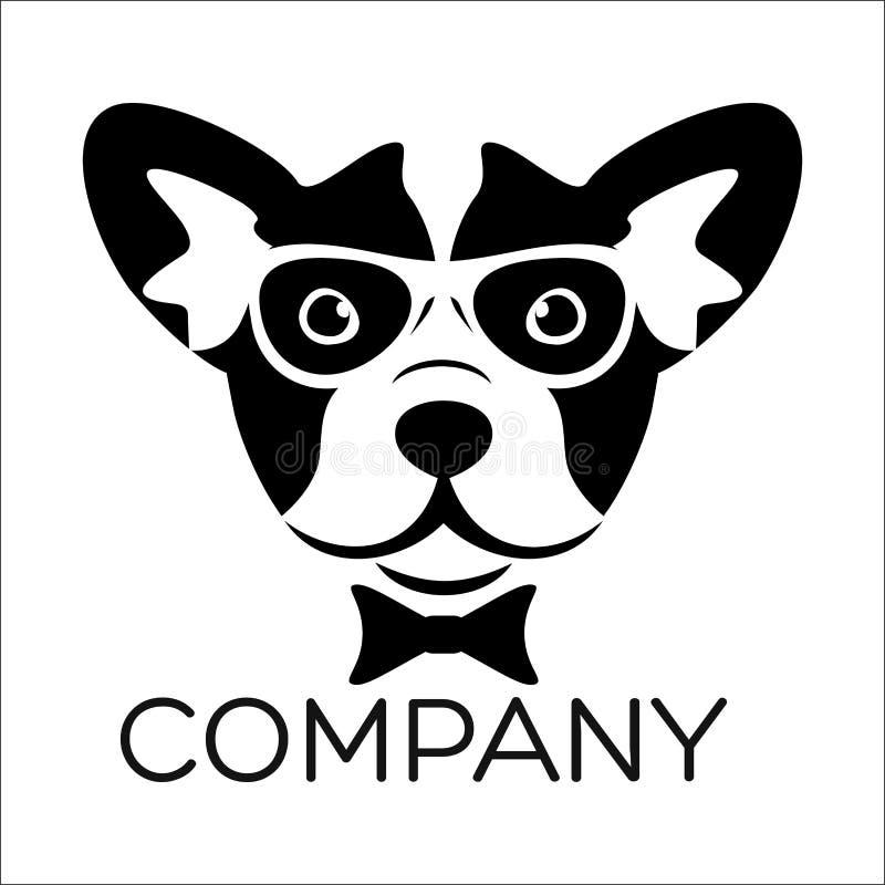 Logo astuto del cane Illustrazione di vettore illustrazione vettoriale