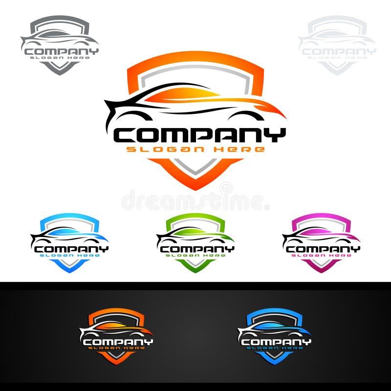 Download Logo Automatico Dell'automobile Per Le Automobili Sportive, L'affitto, Il Lavaggio O Il Meccanico Illustrazione Vettoriale - Illustrazione di estratto, affitto: 117976665