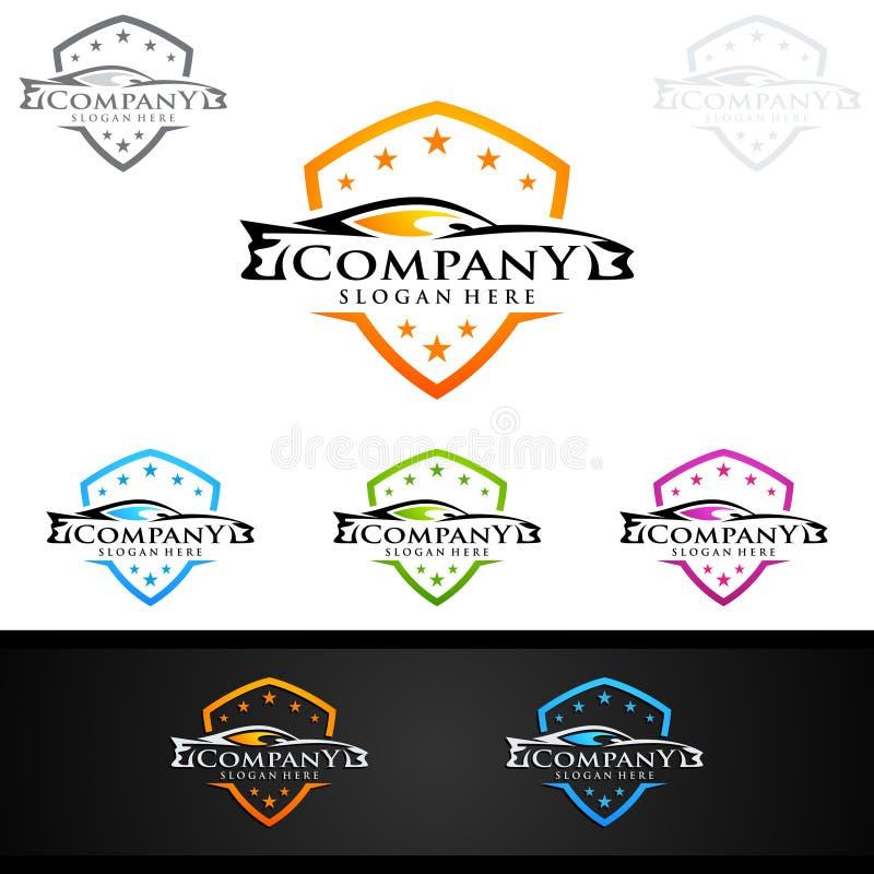 Download Logo Automatico Dell'automobile Per Le Automobili Sportive, L'affitto, Il Lavaggio O Il Meccanico Illustrazione Vettoriale - Illustrazione di consegna, commercio: 117976732