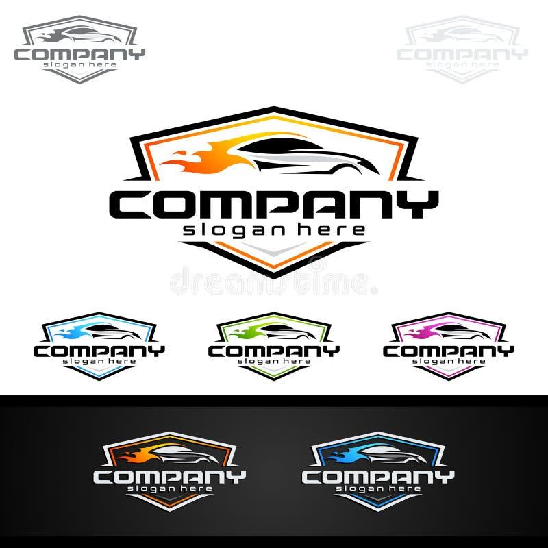 Download Logo Automatico Dell'automobile Per Le Automobili Sportive, L'affitto, Il Lavaggio O Il Meccanico Illustrazione Vettoriale - Illustrazione di driver, riparazione: 117976834