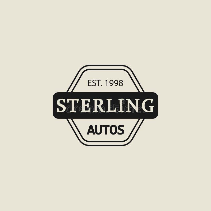 Logo, Automobile, Aufkleber Element der Logoikone für mobile Konzept und Netz Apps Weinleselogo, Automobile, Aufkleberikone kann  lizenzfreie abbildung