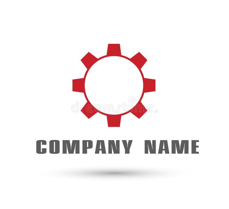 Logo automobilistico dell'ingranaggio per il vostro modello di progettazione della società illustrazione di stock