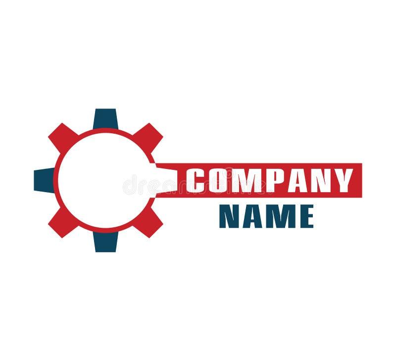 Logo automobilistico dell'ingranaggio per il vostro modello di progettazione della societ? illustrazione di stock