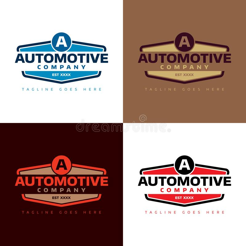 Logo Automotive Company - Vektor-Illustration stockfotos