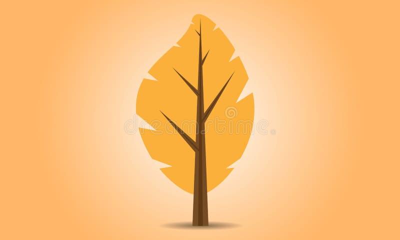 Logo of the autumn tree vector illustration