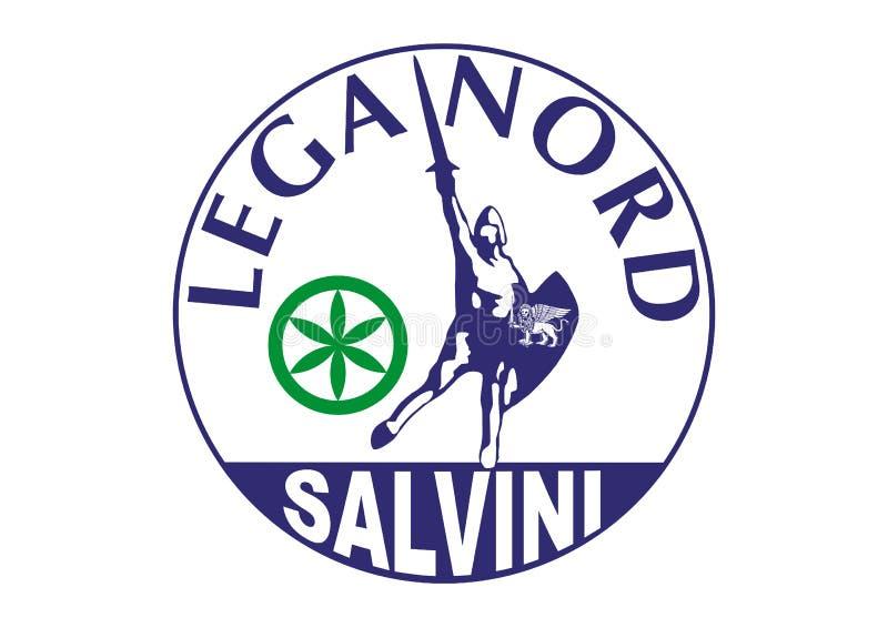 Logo av den nordliga ligan, italienskt politiskt parti vektor illustrationer