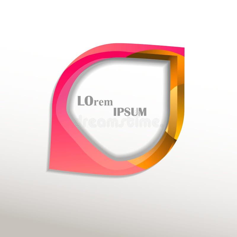 Logo av en droppe vektor illustrationer