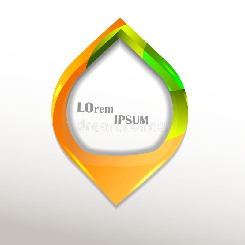 Logo av en droppform royaltyfri illustrationer