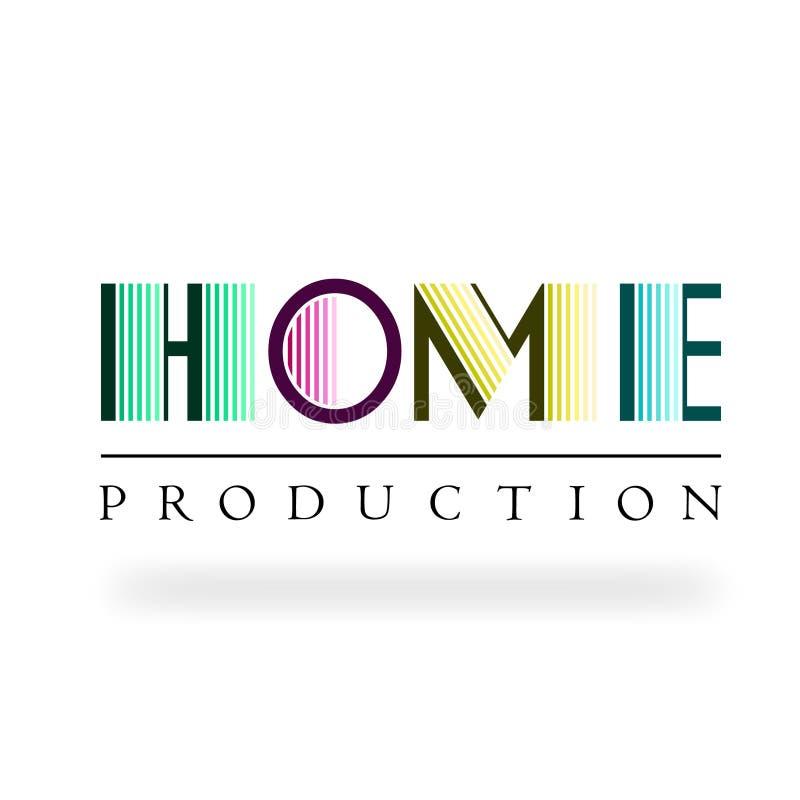 Logo av industriell underhållning och massmedia vektor illustrationer