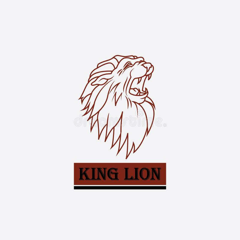 Logo av lejonkonungens huvud royaltyfri illustrationer