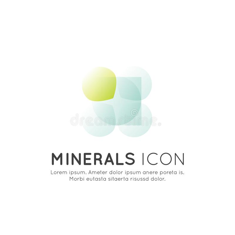 Logo av mattillägg, ingredienser och vitaminer och beståndsdelar för bio packeetiketter, naturlig sund produktdesign för hälsa royaltyfri fotografi